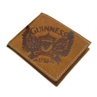 Guinness Genuine Leather Wallet, Wings Design in Brown 2539